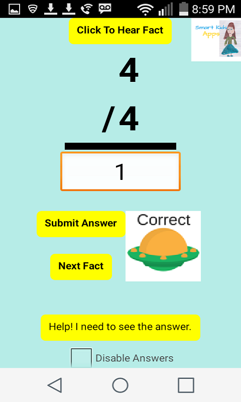 Smart Kids Learn Math Facts- screenshot