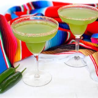 Spicy Cucumber Mint Margarita.