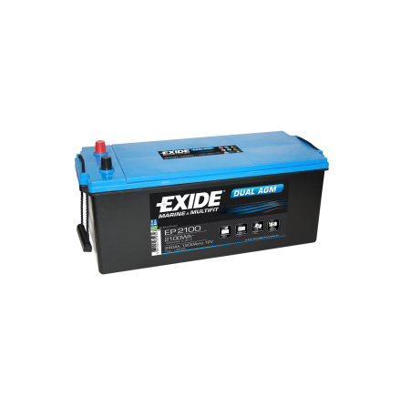 Tudor/Exide Dual AGM batteri 12V/240Ah