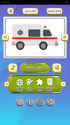 Transportations for Kids 1.0 screenshots 2