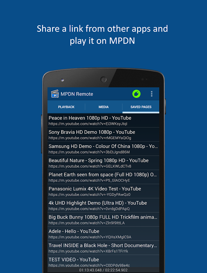 MPDN Remote Control- screenshot
