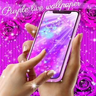 Purple live wallpaper - náhled