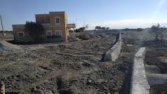 Zona de la obra sin presencia de obreros, máquinas ni materiales.