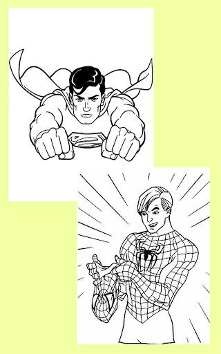 Coloring Kids Superhero