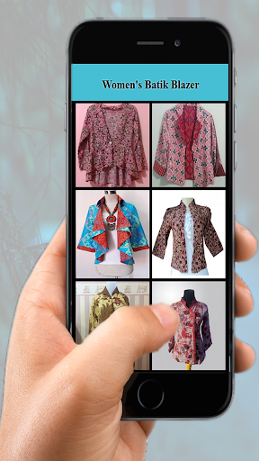 Women's Batik Blazer screenshot 2