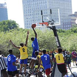 Chicago Park District  by Marcus Robinson Photos - Sports & Fitness Basketball