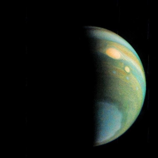 Jupiter Polar Haze in False Color