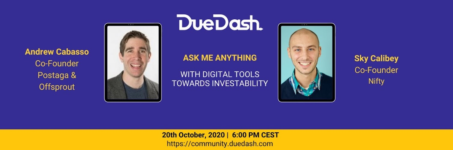 DueDash AMA: With digital tools towards investability