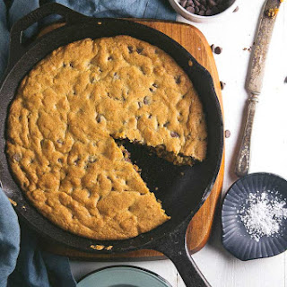 Salted Cast Iron Chocolate Chip Cookie