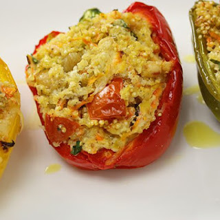 Roasted Capsicum Stuffed with Quinoa