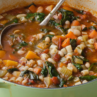 Winter Minestrone & Garlic Bruschetta