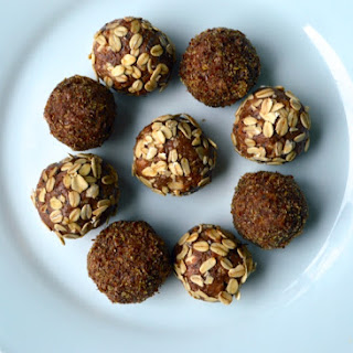 Almond Butter Oat Protein Energy Balls.