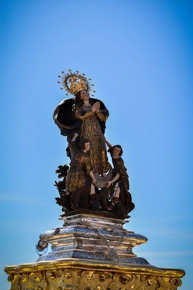 La Pequeñica recorrió la explanada del Santuario para bendecir el Valle del Almanzora.