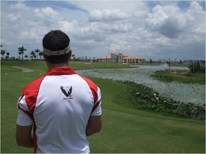 Photo: Phil Jordan, 18th hole at Taekwang Jeongsan Country Club, Saigon, Sept 2012.