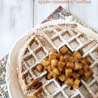 Gluten Free Apple Cinnamon Waffles