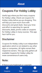 Coupons For Hobby Lobby Shopping - náhled