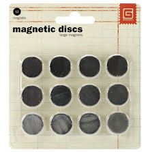 Basic Grey Magnetic Discs 1,5cm 12/Pkg