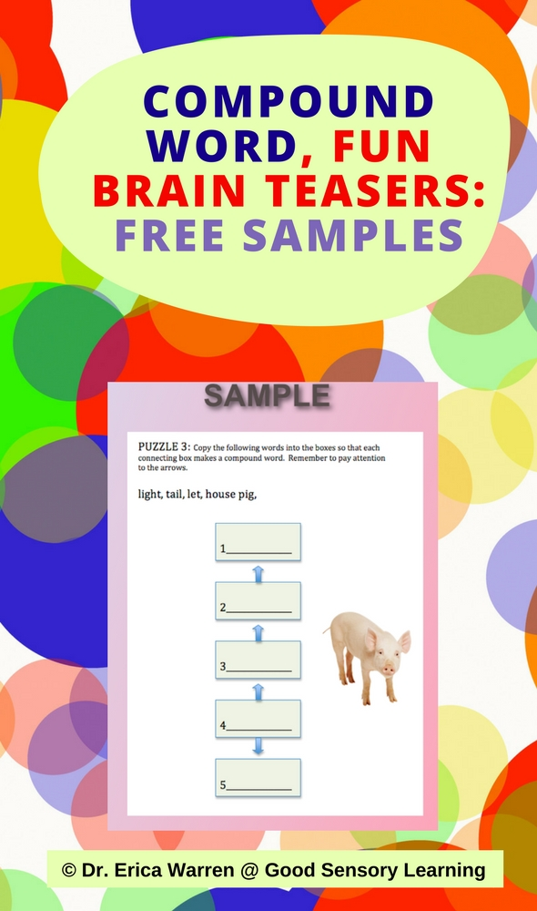 compound word  fun brain teasers  free samples
