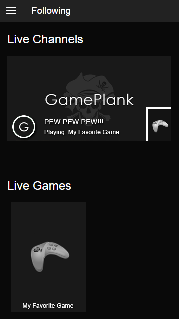 GamePlank- screenshot