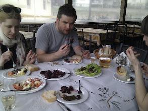 Photo: simple, but fresh and abundant Greek starters