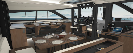 Gunboat 68 interior salon