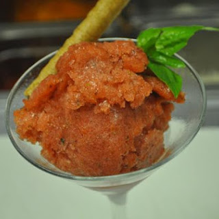 Strawberry Basil Italian Ice