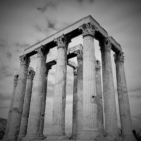 Athens in B&W by Lorna Littrell - Black & White Buildings & Architecture ( black and white building, black and white, greece, black and white photography,  )
