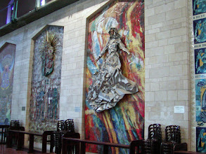 Photo: Beautiful mosaics are throughout the church--each donated by a different country.
