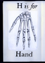 Photo: Philippa Robbins - folding book primer - H is for Hand