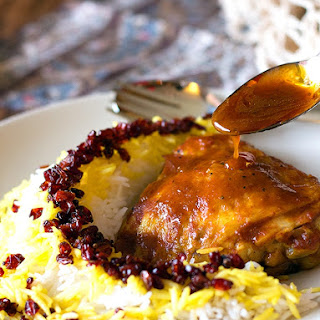 Zereshk Polo Morgh - Persian Barberry Rice with Chicken