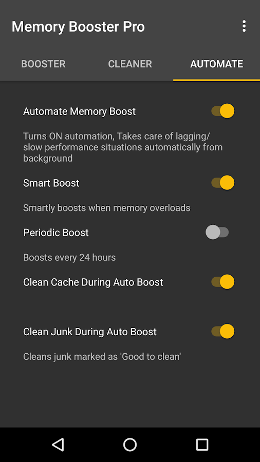 Memory Booster for Android Pro- screenshot
