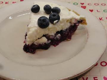 Upside Down Blueberry Pie Cheesecake
