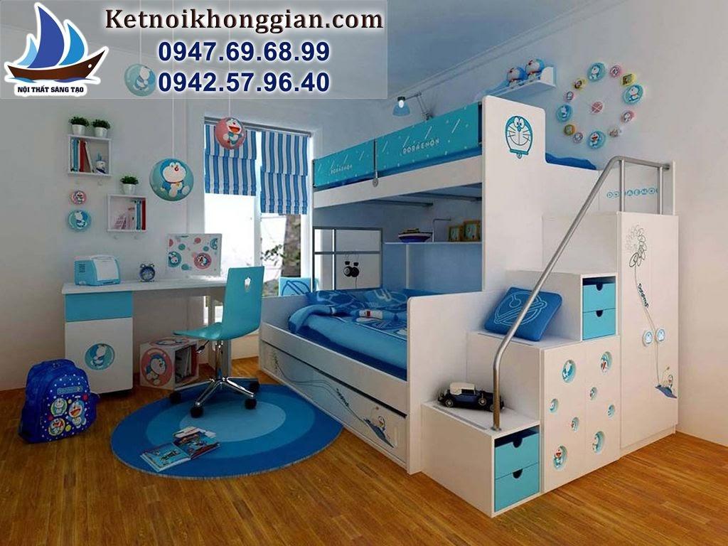thiết kế phòng ngủ đẹp bé trai truyện tranh