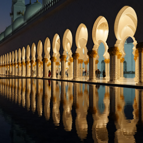 Reflection by Nadir Aziz - Buildings & Architecture Places of Worship ( reflection, grand, mosque, uae, abu dhabi, , #GARYFONGDRAMATICLIGHT, #WTFBOBDAVIS )