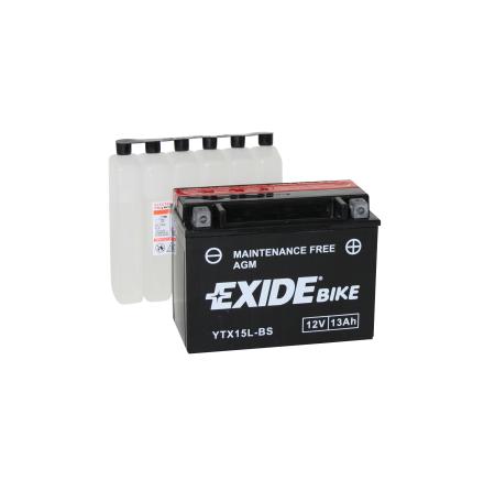 Tudor Exide MC batteri 13Ah AGM YTX15L-BS