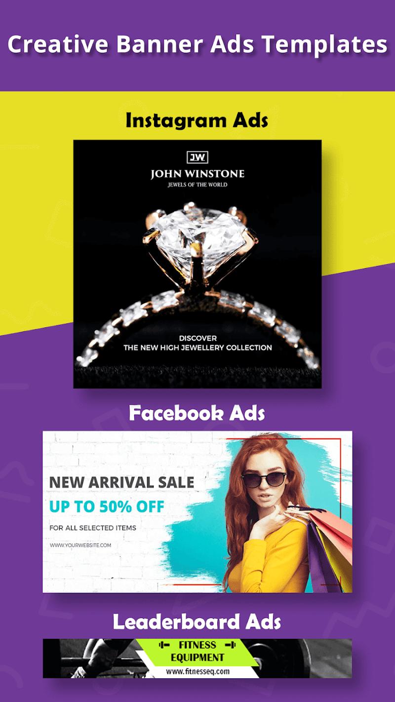 Banner Maker, Ad Maker, Web Banners, Graphic Art Screenshot 2