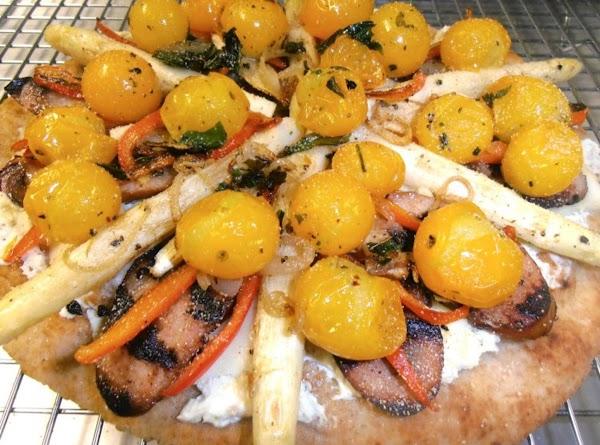 add tomatoes,  you can sorinke some italian seasoning on top