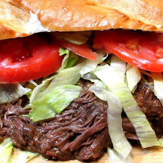 Roast Beef Po' Boy - New Orleans 'Sloppy Roast Beef Sandwich'.
