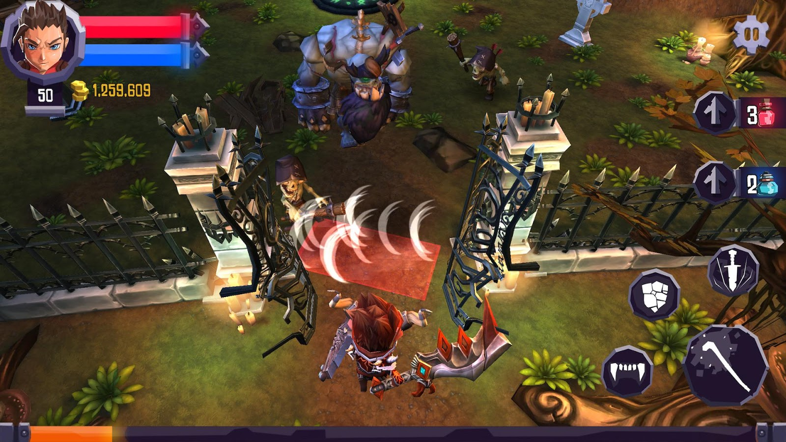 Heroes Curse: captura de tela