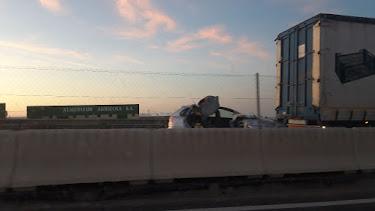 Los vehículos implicados en el accidente. Foto de Cristina Alonso Rodriguez