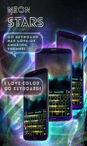 無料个人化Appのネオンスターキーボード|記事Game
