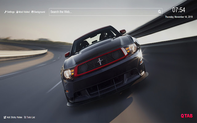 Ford Mustang Wallpaper for New Tab