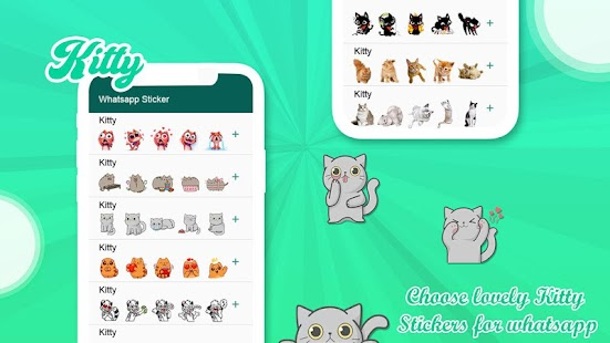Kitty Stickers for Whatsapp, Bigmoji - WASticker Screenshot