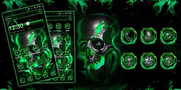 Green Fire Skull Theme