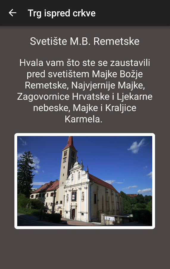 MAJKA BOŽJA REMETSKA- screenshot