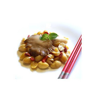 Stir Fry Abalone Mushroom With Gingko Nuts and Wolfberries