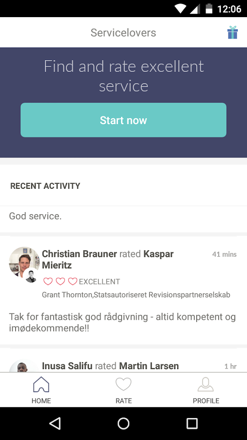 Servicelovers – screenshot