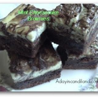 Quick Freezer Mint Cheesecake Brownies for Tea Parties.