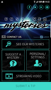 Unsolved Mysteries Mobile App- screenshot thumbnail