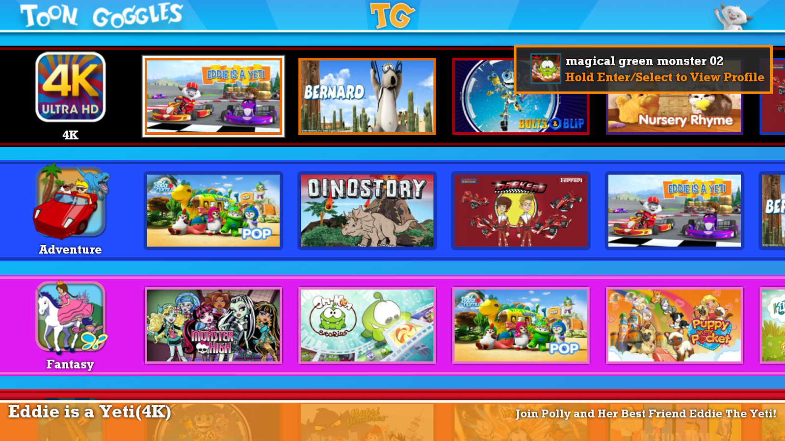 Toon Goggles for Android TV- screenshot